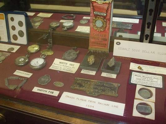 photo of artefacts in display case