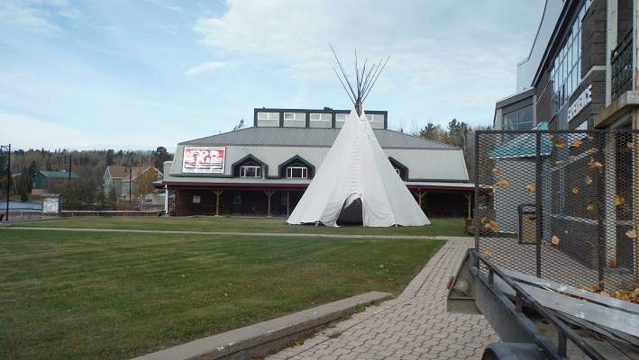 photo of tipi put up in Temagami