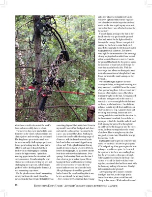 page three of article with photo of hunting bow