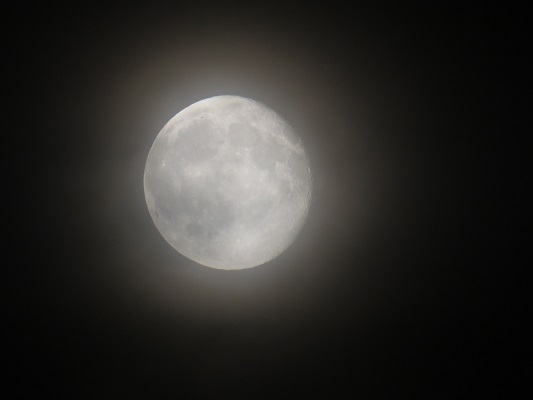 photo of full moon with details