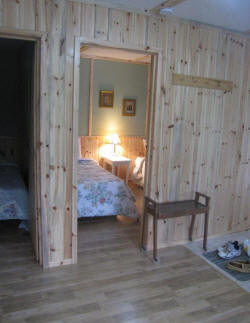 cottage six door to bedrooms