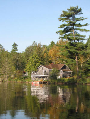 cottage nine from lake, different perspective