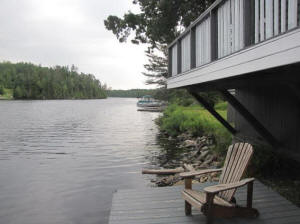 cottage nine dock with chair