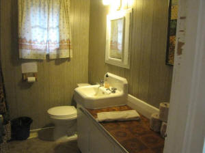 a bathroom in cottage nine